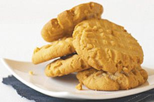 Old-Fashioned Peanut Butter Cookies recipe  Yummy!  Try adding a bag of butterscotch chips to this or even peanut butter chips if you can find them.  You will think you died and went to cookie heaven!