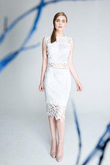 Spódnica koronkowa, biała. S100