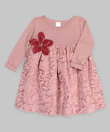 This Misty Rose Floral Gabriella Dress - Infant by Truffles Ruffles is perfect! #zulilyfinds