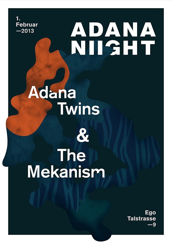 Great poster designs for Adana Nights series by Vienna-based Lukas Haider.