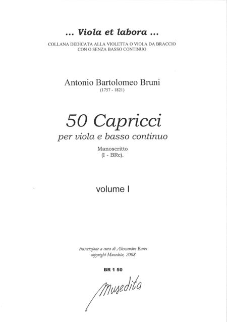 50 Capricci (Manuscript, I-BRc)