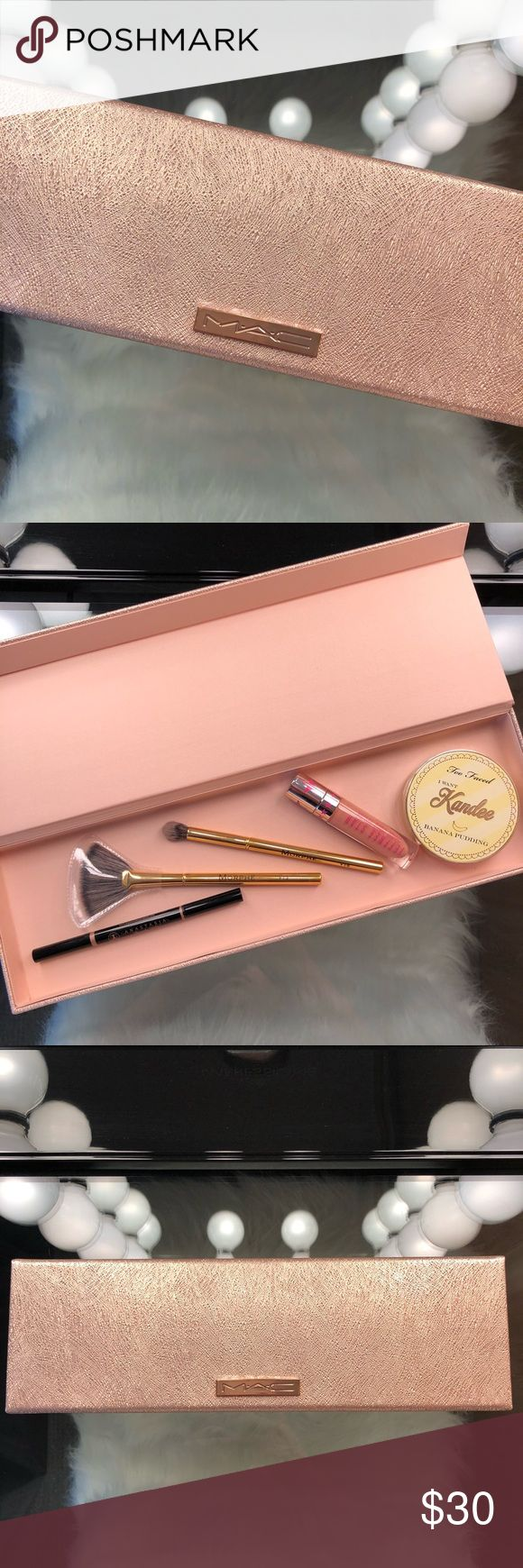 """MAC Makeup Box MAC Rose Gold Makeup Box """"Limited Edition"""" Can be used for whatever. L14in x W4.5in  Condition; NWT MAC Cosmetics Makeup Brushes & Tools"""