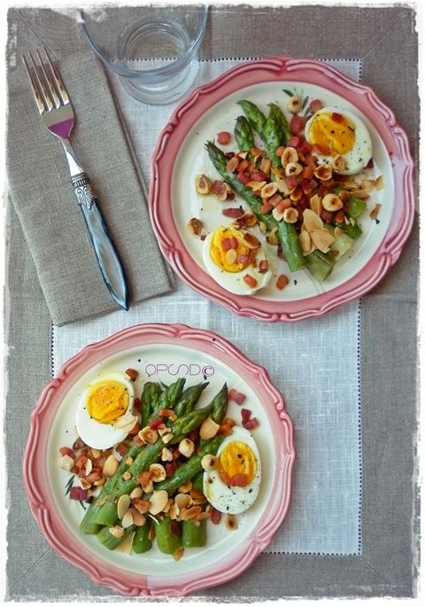 {Ricetta vintage} Insalata di asparagi e uova, facile, veloce e buona! - {Vintage recipe} Easy and fast  asparagus and eggs salad