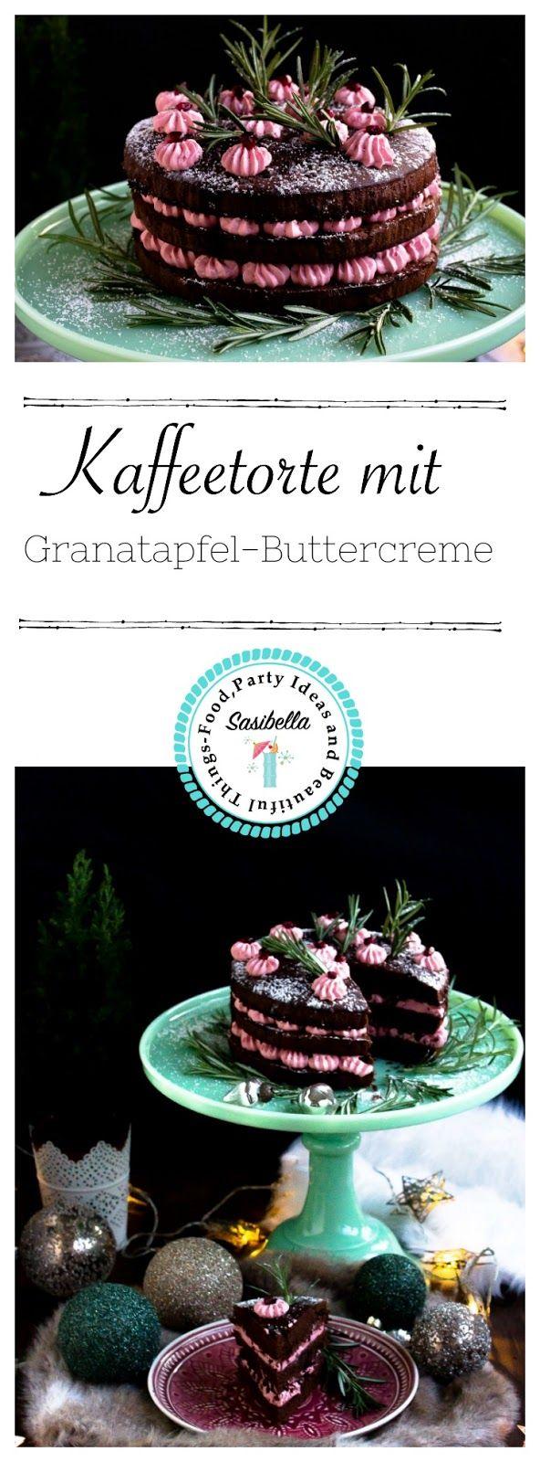 Kaffeetorte mit Granatapfel Buttercreme + Verlosung Tchibo Caffissimo mini (Werbung)- Adventskalendertürchen 1