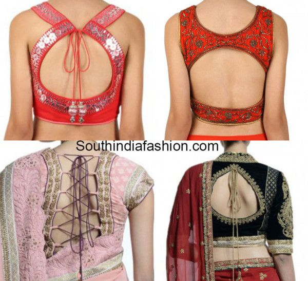 blouse back neck designs 2015 ~ Fashion Trends ~ - South India Fashion
