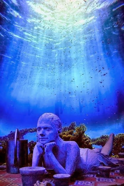 15 Unbelievable Places we resist really exist - Cancun Underwater Museum, Mexico