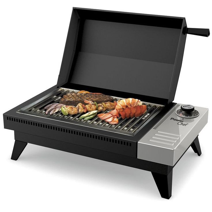Delightful Dimplex Powerchef PBQ 120 Metro 216 Sq In Portable Electric Tabletop Grill  Black