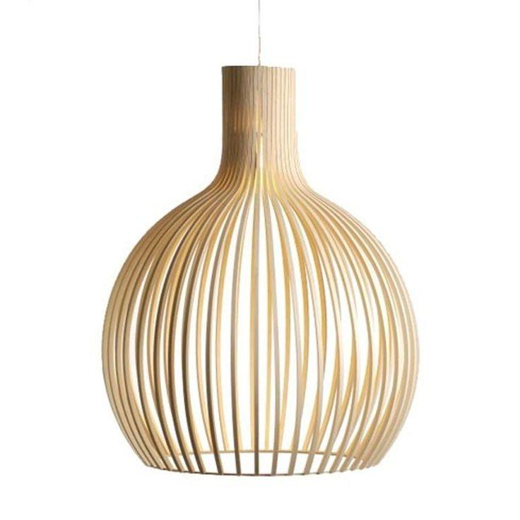 Replica Secto Design Seppo Koho Octo Pendant Light Natural 45cm | GoLights.com.au