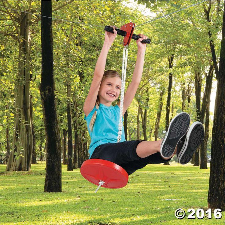 Eagle 90-foot Zipline Kit with Seat | Zip line backyard ...