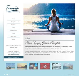 Tunis Yoga Joomla template, just releasted. This is a minimal and stylish Joomla template thats easy to use. It's a responsive design that looks great on mobile phones and uses the bootstrap framework. Test out this fantastic Joomla template today, by clicking on the link below.