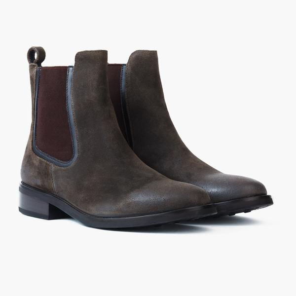 Women's Olive Suede Duchess Chelsea Boot | Thursday Boot Company