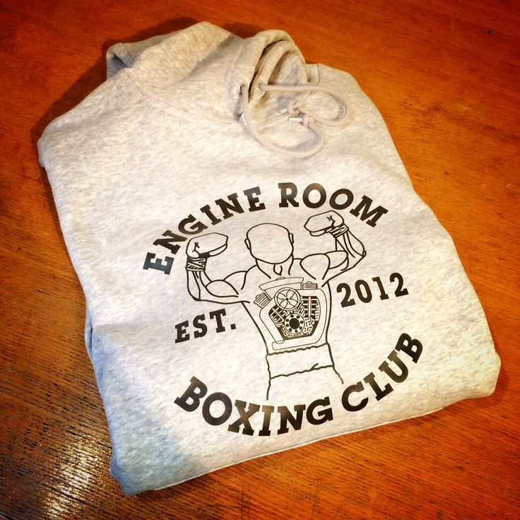 Custom Hoodie for Engine Room Boxing visit our website www.fitwell-ltd.co.uk for more examples, offers and customisation options.