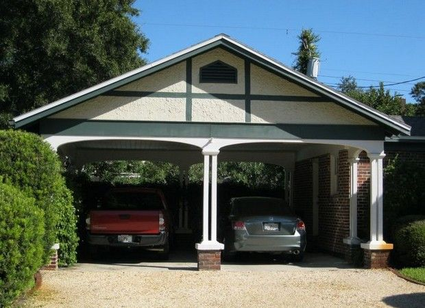 29 best carport ideas images on pinterest for the home for Detached garage with carport
