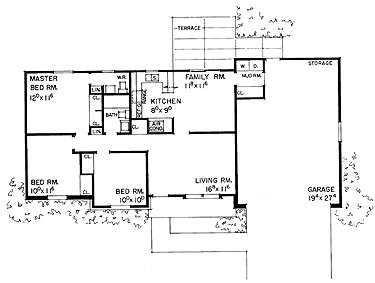 3 bedroom 1 5 bath ranch home floor plans pinterest for 1 5 story house plans
