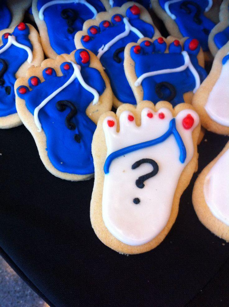 Beach feet cookies