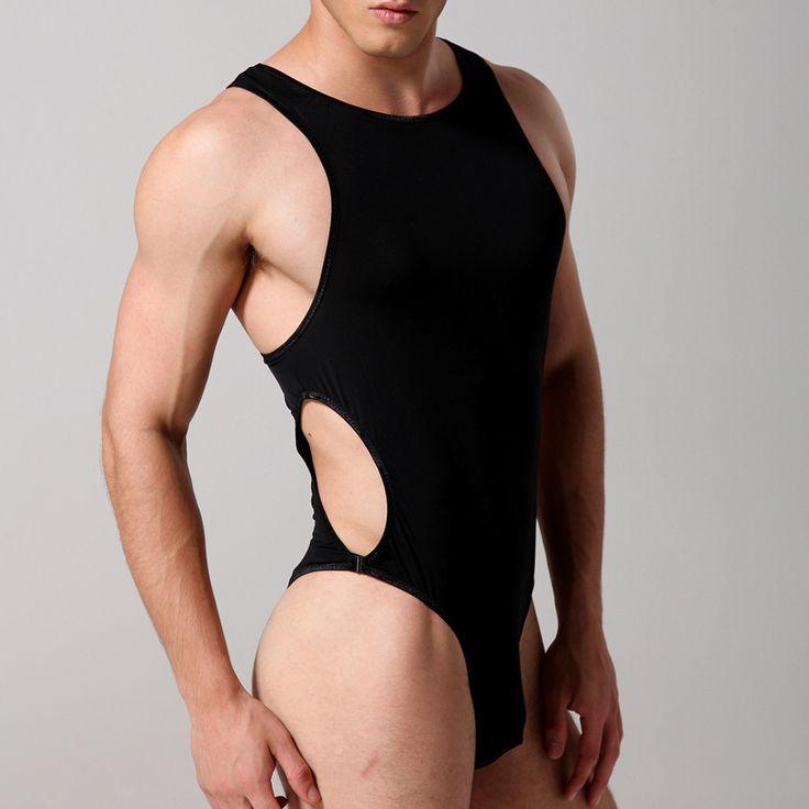 Mens Bodysuits Bodywear Ice Silk Comfort Slimming Gay Man Sex Lingerie Underwear Sexy Onesie Body Shaper Leotard Undershirt