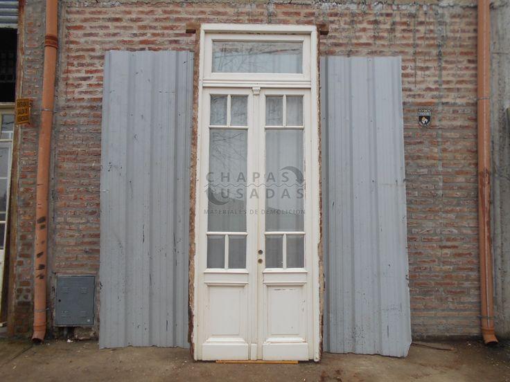 Antigua puerta cancel de madera en cedro puertas pinterest - Puertas de madera antiguas ...