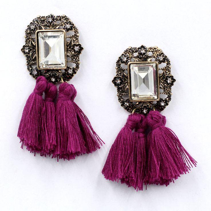 New 2014 fashion jewelry hot sale women crysta vintage tassel statement bib stud Earrings for women jewelry Factory Price-in Stud Earrings from Jewelry on Aliexpress.com   Alibaba Group