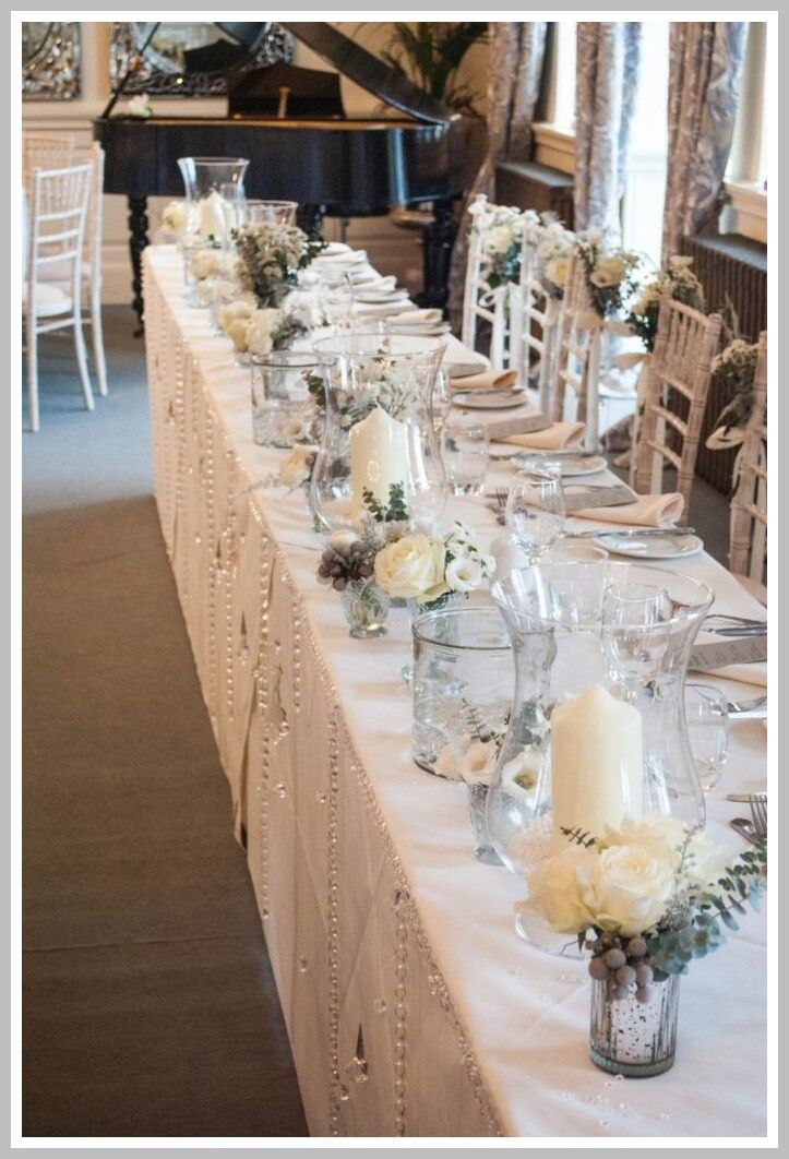 46 Reference Of Top Table Decoration Ideas Weddings In 2020 Wedding Top Table Winter Table Decorations Top Table Flowers