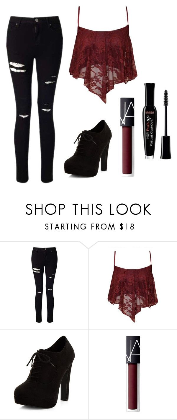 """Untitled #194"" by electraz on Polyvore featuring Miss Selfridge, New Look, NARS Cosmetics and Bourjois"