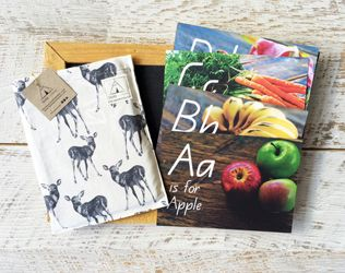 BEAUTIFUL ALPHABET CARDS FOR KIDS FEATURING HEALTHY FOODS FROM TEEPEE LEARNING