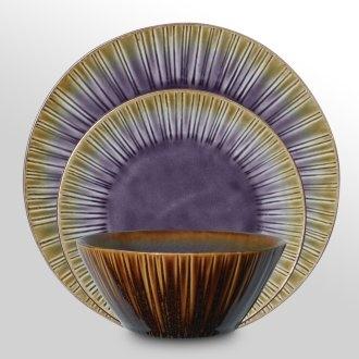 Cressa 12 Piece Dinnerware Set - Purple