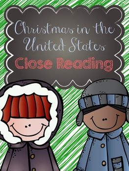 FREE Christmas in the United States - Close Reading {Did this with my kiddos today and they LOVED it! Challenging, but fun activity for this time of year!}