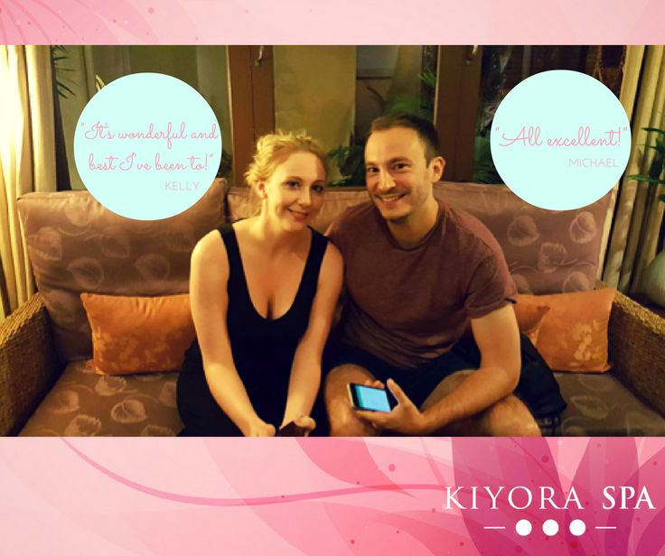 Kelly & Michael loved their Kiyora experience!  Read more reviews here:  www.kiyoraspa.com/reviews/  #kiyoraspa #luxuryspa #dayspa #serviceexcellence #thailand #chiangmai