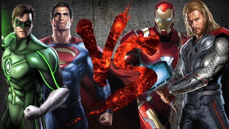 Супермен и Зелёный Фонарь VS Тор и Железный Человек [CT Fight Club 3.0]