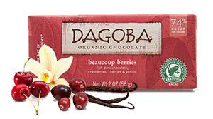 Haga clic aquí para comprar la barra de chocolate DAGOBA BEAUCOUP frutas negras (74% cacao)
