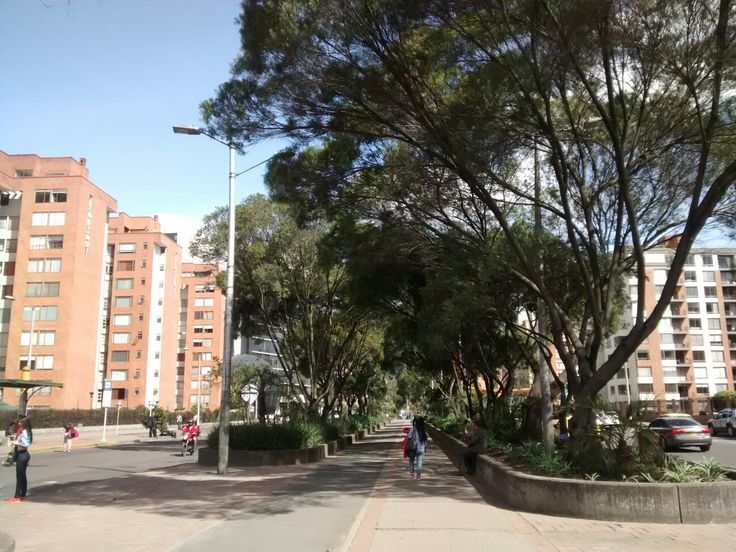 Alameda y cicloruta de la Avenida La Esperanza en Bogotá.