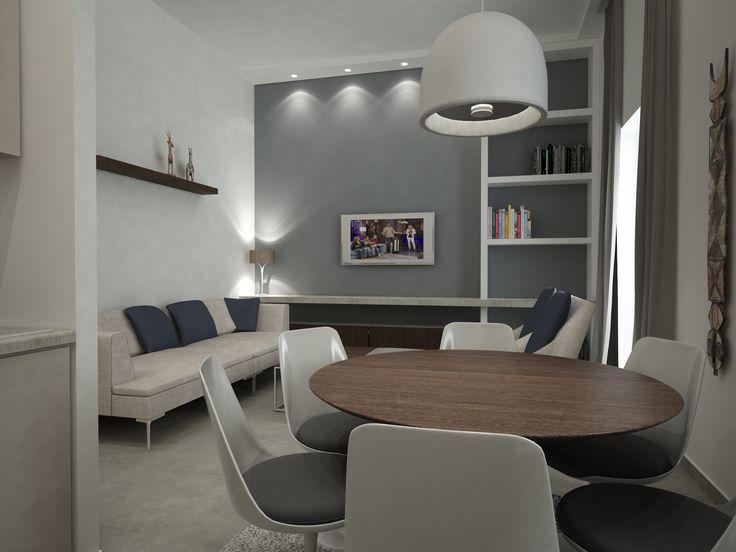 Πρόταση διαμόρφωσης σαλόνι-καθιστικό