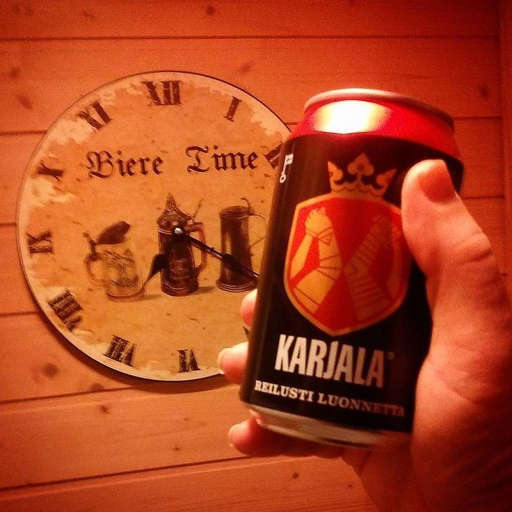 ...⏰ the time now in Finland is beer o'clock!!!  #beer #saturday #beergoggles #karjala #olut #öl #biere #bier #beercan #clock #beeroclock #kippis #skål #cheers #slainte #ticktock #beersoftheworld #beeroftheday #beeragram #instabeer #weareinfinland #finnishbeer #instafinland #suomalainenolut #drinksoftheworld #wallclock #whattimeisit #timepiece #beertime #beerlover