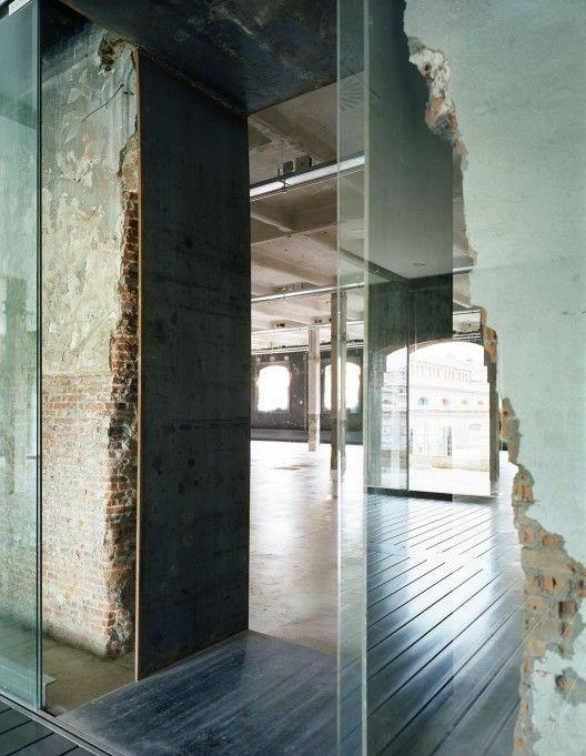 Intermediae Matadero Madrid / Arturo Franco. old brick vs new glass#Repin By:Pinterest++ for iPad#