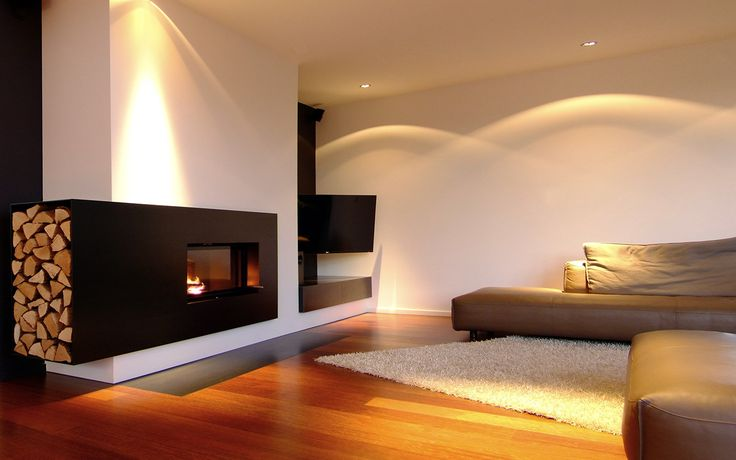 luxus wohnzimmer modern mit kamin – Dumss.com