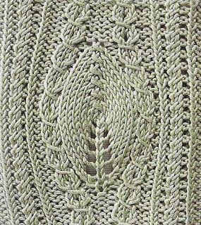 Large Leaf Knitting Pattern : 17 Best images about Leaf/Ivy/Vine Knit Stitch Patterns on Pinterest Stitch...