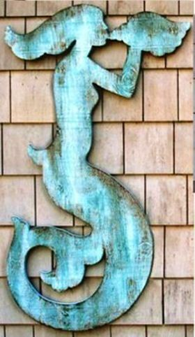 I want this Mermaid cut out for on our shed at the Lakehouse - so cool!