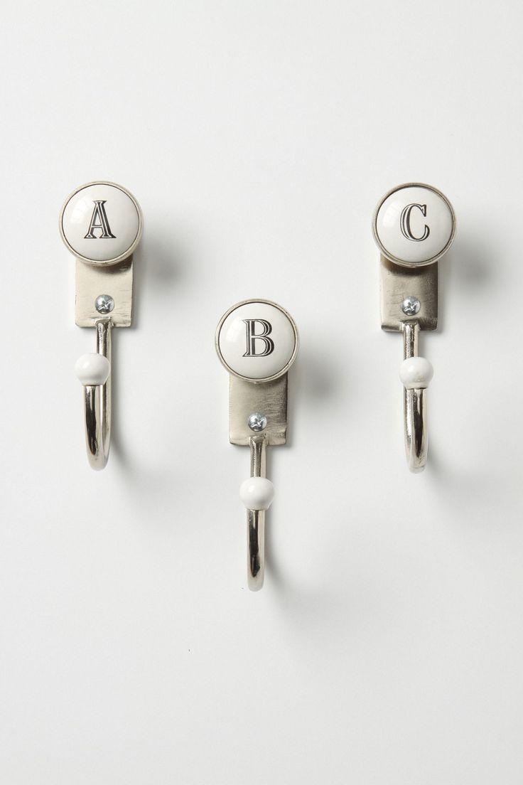 Cute Coat Hooks 38 best letter hooks images on pinterest | hooks, letter and wall