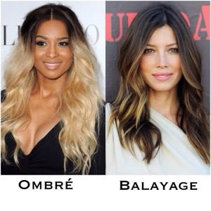 Ombre hair et balayage difference