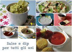 Raccolta di salse per tutti gli usi. Ricette di dip, salse e salsine per polpettone pinzimonio nachos polpette tartine crostini insalate pesce, carne...