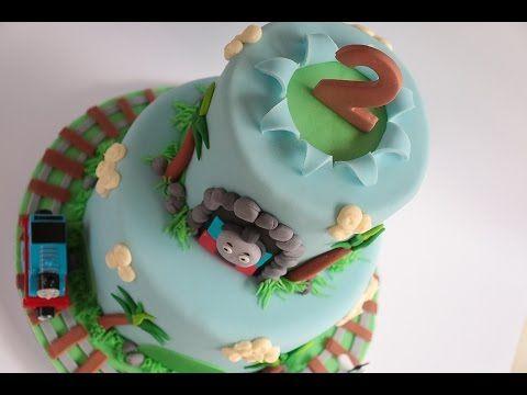 How to make a Thomas the Tank Engine birthday cake tutorial. Bake and Make with Angela Capeski - YouTube