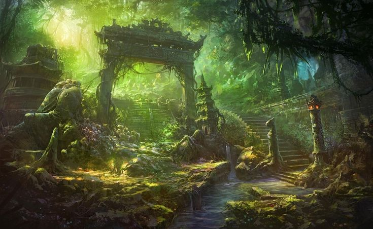 Image Detail For Dark Mysterious Hd Fantasy: Fantasy Art Landscapes Forest Widescreen 2 HD Wallpapers