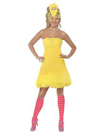 Sesamstraat Pino jurkje in de kleur geel voor dames. Dit gele jurkje is gebaseerd op Sesamstraats Pino. Het Pino kostuum voor dames bestaat uit een jurkje, hoofdband met het hoofd van Pino en hoge oranje sokken. Carnavalskleding 2015 #carnaval