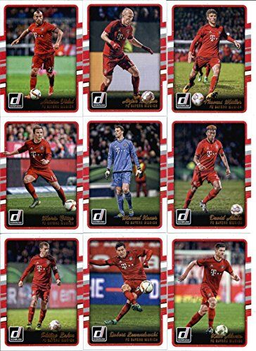 2016 Donruss Soccer FC Bayern Munich Team Set of 9 Cards SEALED in Protective Snap Case: Arjen Robben(#33), Arturo Vidal(#34), David Alaba(#35), Manuel Neuer(#36), Mario Gotze(#37), Philipp Lahm(#38), Robert Lewandowski(#39), Thomas Muller(#40), Xabi Alonso(#41):   2016 Donruss Soccer FC Bayern Munich Team Set of 9 Cards SEALED in Protective Snap Case: Arjen Robben(#33), Arturo Vidal(#34), David Alaba(#35), Manuel Neuer(#36), Mario Gotze(#37), Philipp Lahm(#38), Robert Lewandowski(#39)...