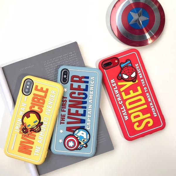 3D stereo Marvel Avengers cover case for iPhone 7 8 6 Plus X XS Max Xr – elega…