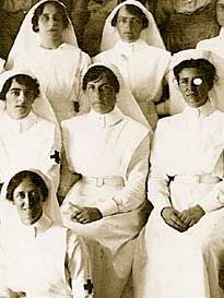 Australian sisters on board the SS Moolfan, (or Mooltan?) For Australians, the image usually associated with 25 April, 1915 is that of Australian soldiers charging bravely up the steep and barren slopes of Gallipoli. Less appreciated is the picture of an Australian nurse on that same day attending to hundreds of battered and bleeding men on the decks and in the confined wards of a hospital ship.  http://www.anzacsite.gov.au/5environment/nurses.html