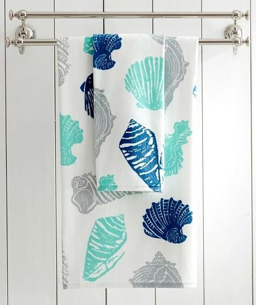 Cotton Seashell Bath Towels on Sale at PB: http://www.completely-coastal.com/p/coastal-sale-island.html