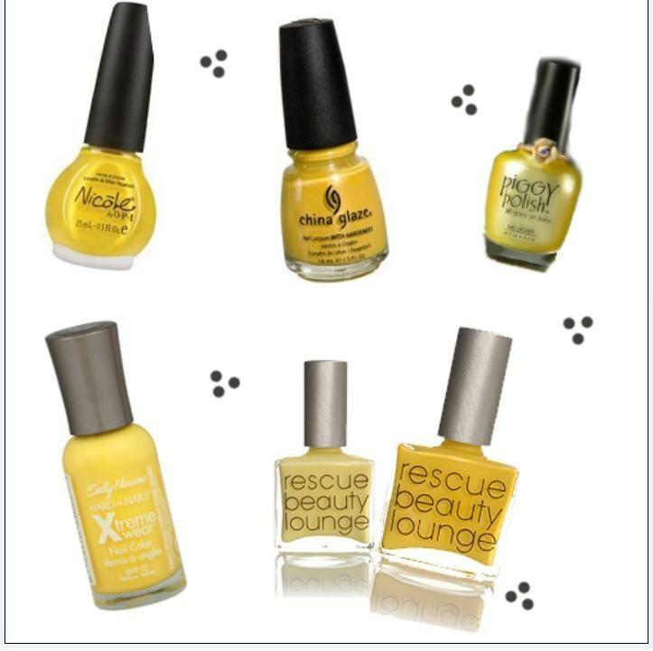 Yellow Nail Polish Toenails: 41 Best Mani Mondays....Lemon Style Images On Pinterest