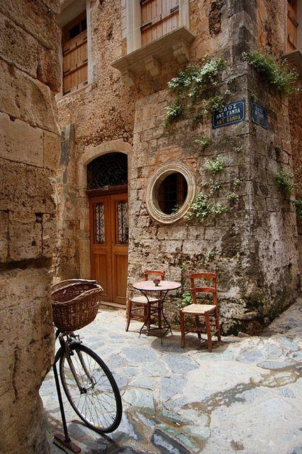 Ancient Street Corner, Crete, Greece