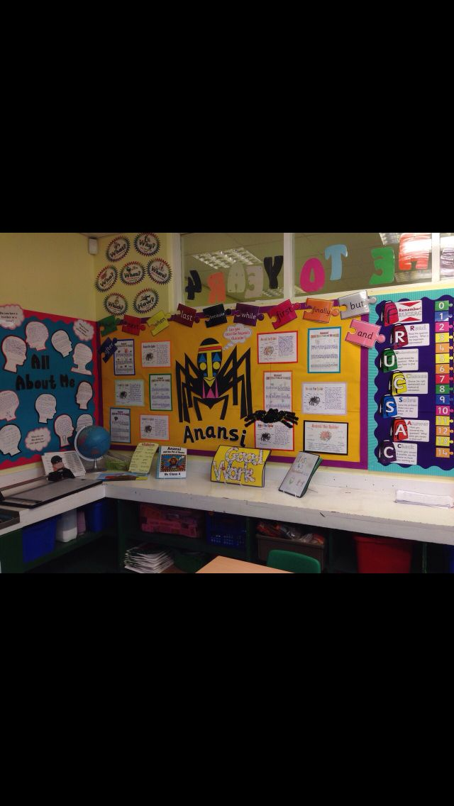 Anansi the spider literacy display